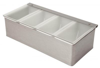 Beaumont Stainless Steel Condiment Holder 4 Compartment