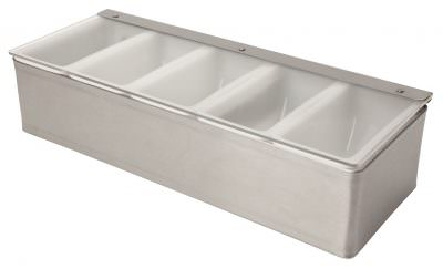 Beaumont Stainless Steel Condiment Holder 5 Compartment