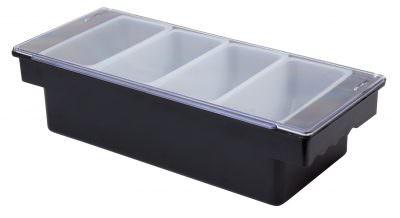 Beaumont Plastic Condiment Holder 4 Compartment