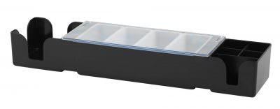 Beaumont Plastic Bar Centre 4 Compartment With Serviette/Stirrer Pockets