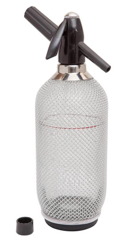 Beaumont Glass Soda Syphon With Mesh