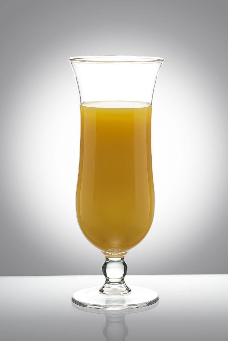 Hurricane Premium Cocktail Reusable Plastic Glasses - 4 Pack