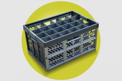 Folding Crate Glass Storage Boxes