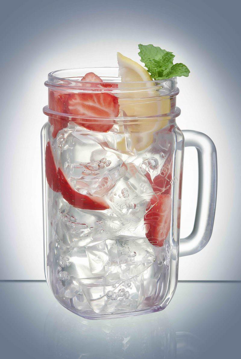 Reusable Plastic Drinking Jar - 6 Pack