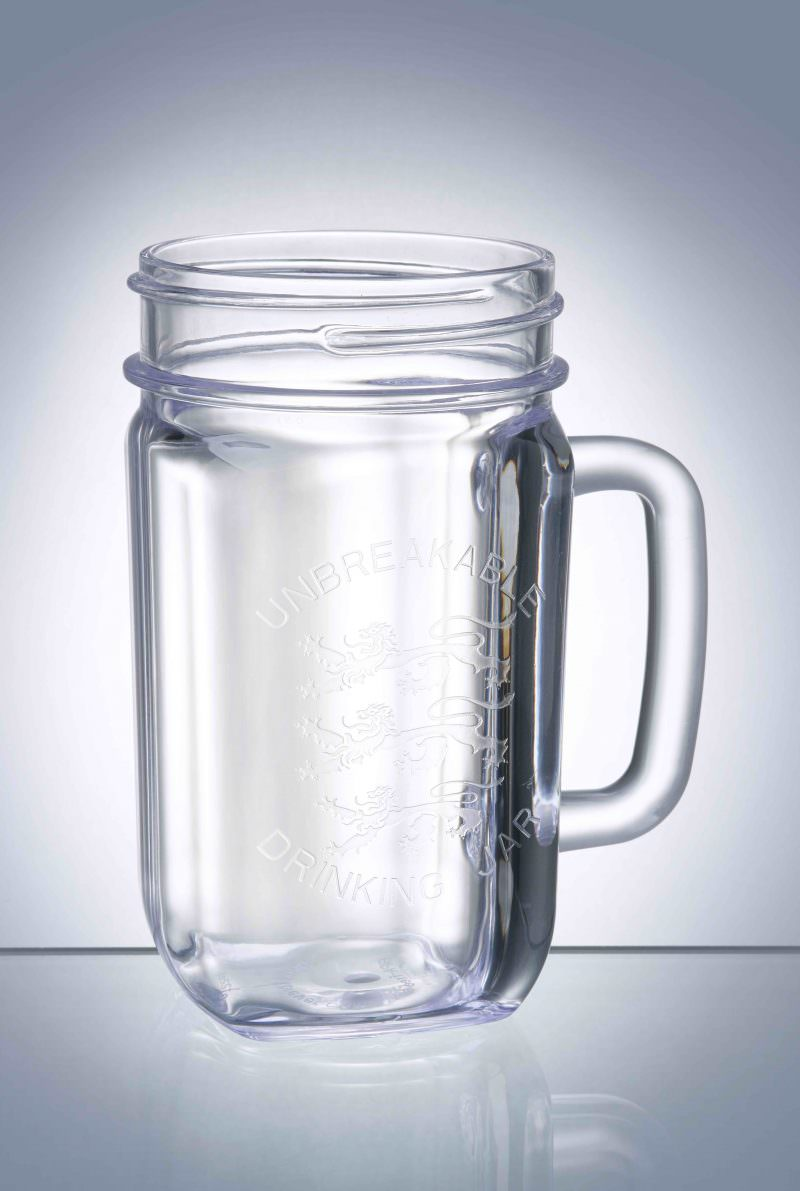 Plastic Reusable Drinks Jar