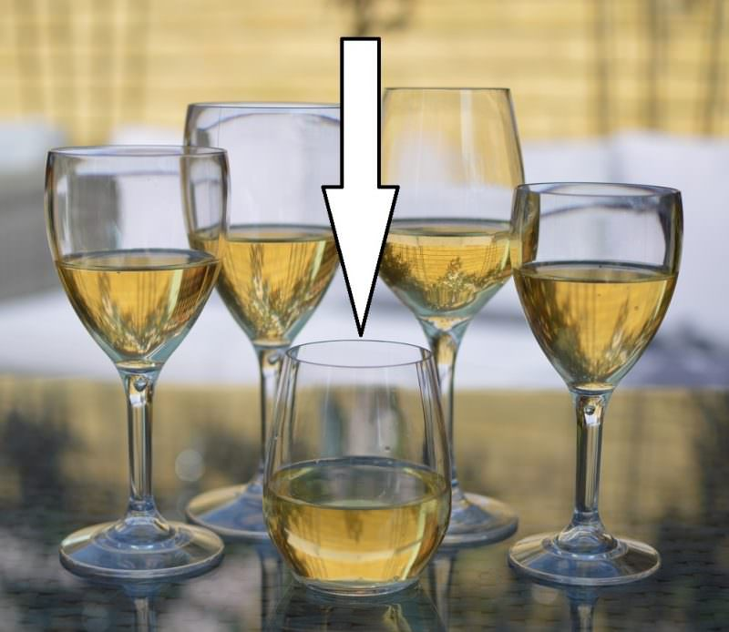 Stemless wine glasses plastic