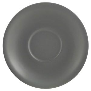 "Genware Porcelain Matt Grey Saucer 13.5cm/5.25"""