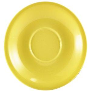 Genware Porcelain Yellow Saucer 13.5cm