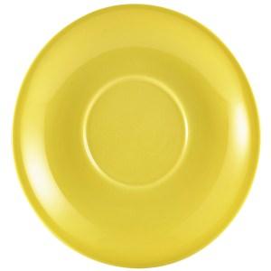 Genware Porcelain Yellow Saucer 16cm