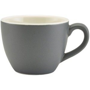 Genware Porcelain Matt Grey Bowl Shaped Cup 9cl/3oz