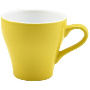 Genware Porcelain Yellow Tulip Cup 9cl/3oz