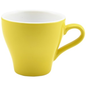 Genware Porcelain Yellow Tulip Cup 18cl/6.25oz