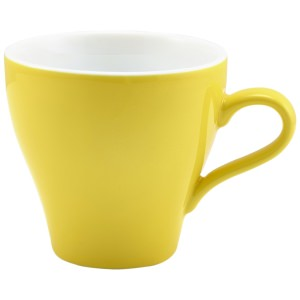 Genware Porcelain Yellow Tulip Cup 28cl/10oz
