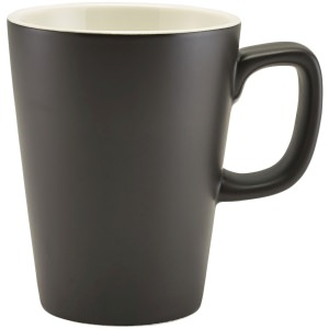Genware Porcelain Matt Black Latte Mug 34cl/12oz