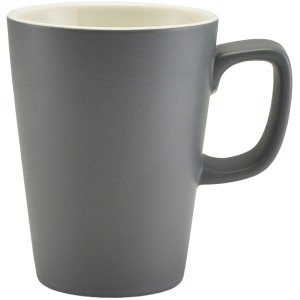 Genware Porcelain Matt Grey Latte Mug 34cl/12oz