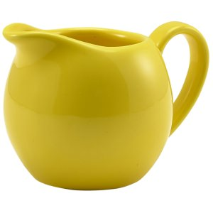 Genware Porcelain Yellow Jug 14cl/5oz