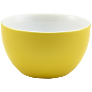 Genware Porcelain Yellow Sugar Bowl 17.5cl/6oz