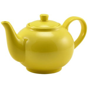Genware Porcelain Yellow Teapot 45cl/15.75oz