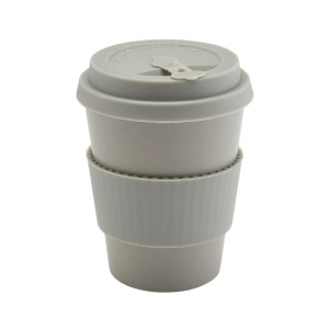 Grey Reusable Bamboo Fibre Coffee Cup 35cl/12.25oz
