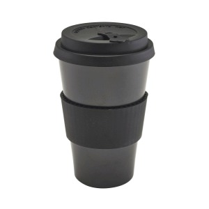 Black Reusable Bamboo Fibre Coffee Cup 45cl/15.75oz