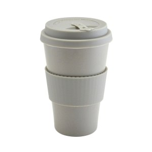 Grey Reusable Bamboo Fibre Coffee Cup 45cl/15.75oz