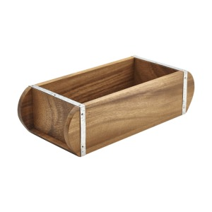 Acacia Wood Brick Mould Table Caddy