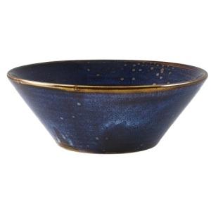 Terra Porcelain Aqua Blue Conical Bowl 16cm