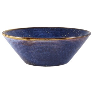Terra Porcelain Aqua Blue Conical Bowl 19.5cm