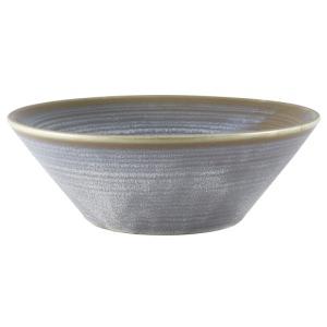 Terra Porcelain Matt Grey Conical Bowl 19.5cm