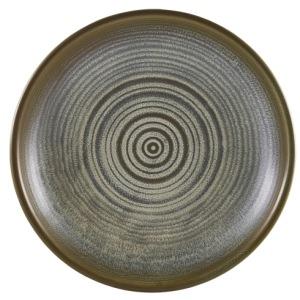 Terra Porcelain Matt Grey Deep Coupe Plate 21cm