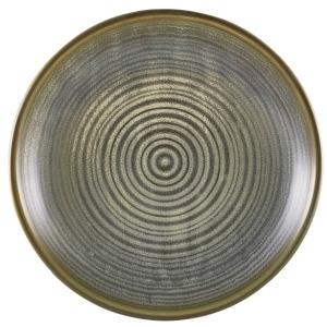 Terra Porcelain Matt Grey Deep Coupe Plate 25cm