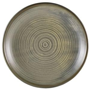 Terra Porcelain Matt Grey Deep Coupe Plate 28cm
