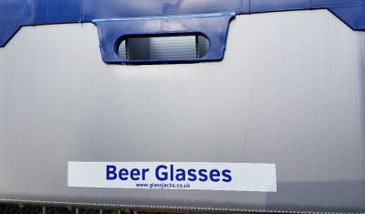 Beer Glasses Sticker for Glassjacks - Pack of 1