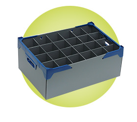 Glassware Storage Boxes - Correx