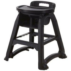 GenWare Black PP Stackable High Chair