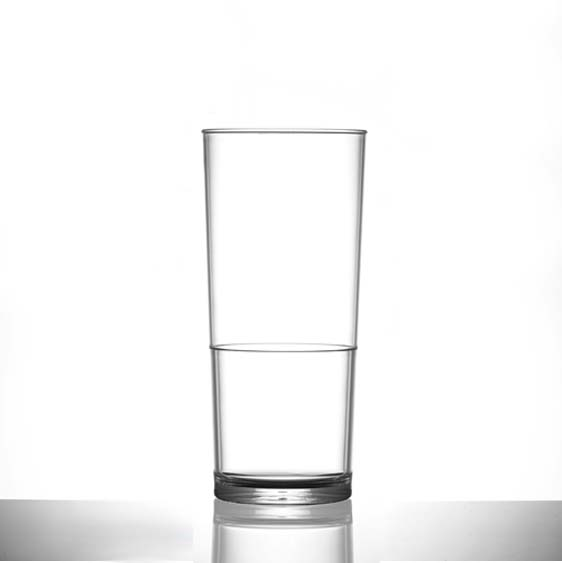 Plastic Tumbler Glasses, Polycarbonate 12oz In2Stax, Clear - 24 Pack