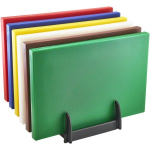 Low Density Chopping Board And Rack Set 18 x 12 x 1""