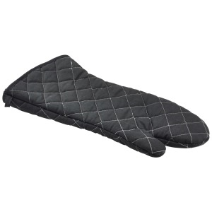 "Flameguard Oven Mitt Black 17"" CE Marked (Pair)"