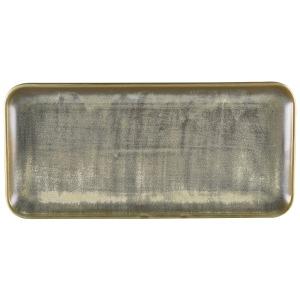 Terra Porcelain Matt Grey Narrow Rectangular Platter 36 x 16.5cm