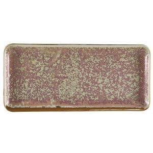 Terra Porcelain Rose Narrow Rectangular Platter 30 x 14cm