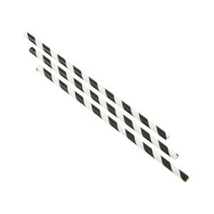 Paper Straws Black and White Stripes 23cm (250pcs)