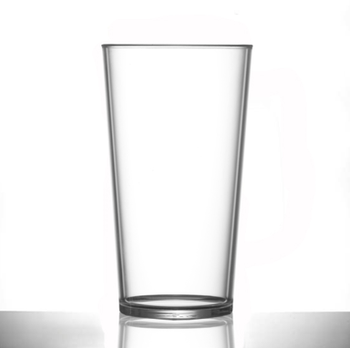 Conical Polycarbonate Pint Glasses Elite Premium - Pack of 24