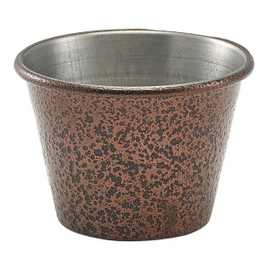 2.5oz Stainless Steel Ramekin Hammered Copper