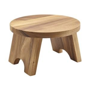 Acacia Wood Round Buffet Riser 25cm