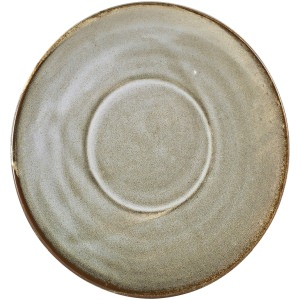 Terra Porcelain Grey Saucer 14.5cm