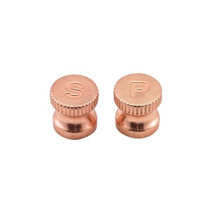 Engraved Copper Knobs For Salt/Pepper Grinders 6pcs