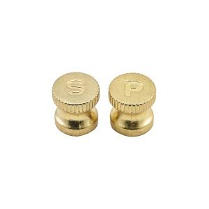 Engraved Gold Knobs For Salt/Pepper Grinders 6pcs