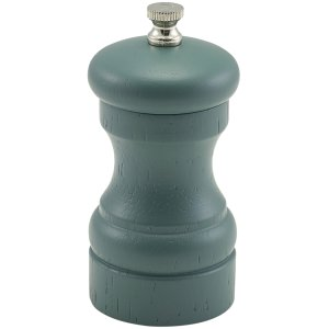 Olive Green Wooden Salt/Pepper Grinder 10cm