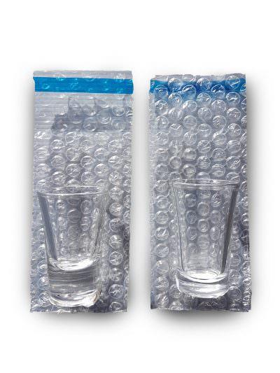 Shot Glass Bubble Bag - W75mm x H130mm - 10 Pack
