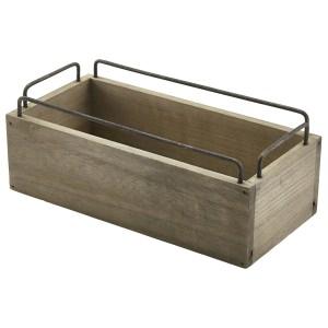 Industrial Wooden Crate 25 x 12 x 9.5cm